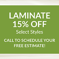 National Flooring Extravaganza Sale Going On Now! 15% off select laminate styles – Call to schedule your free estimate!